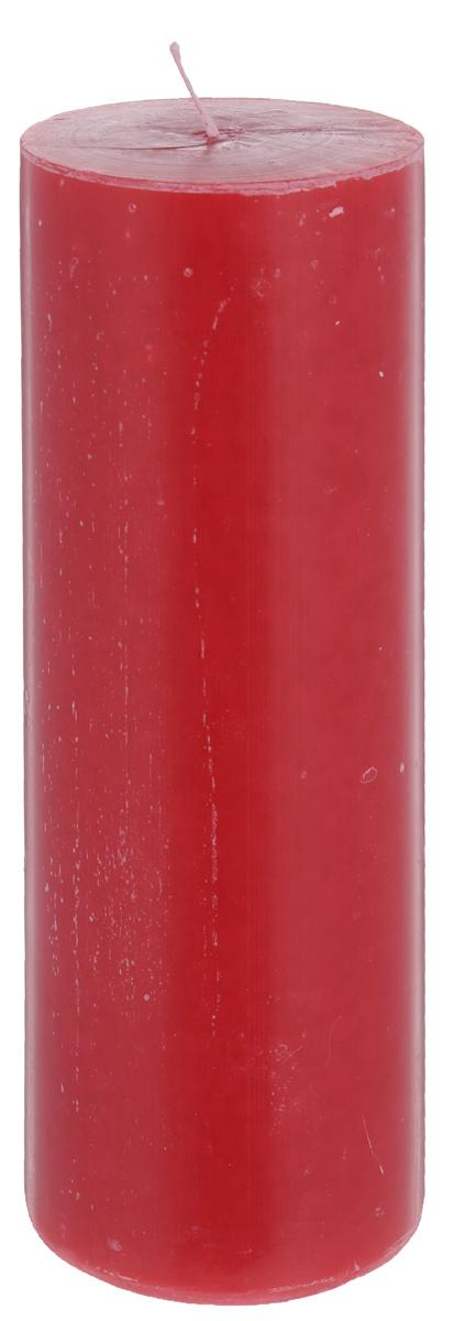 Свеча декоративная Proffi Home Столбик, цвет: бордовый, высота 20 смU210DFДекоративная свеча Proffi Home Столбик выполнена из парафина и стеарина в классическом стиле. Изделие порадует вас ярким дизайном. Такую свечу можно поставить в любое место, и она станет ярким украшением интерьера. Свеча Proffi Home создаст незабываемую атмосферу, будь то торжество, романтический вечер или будничный день.