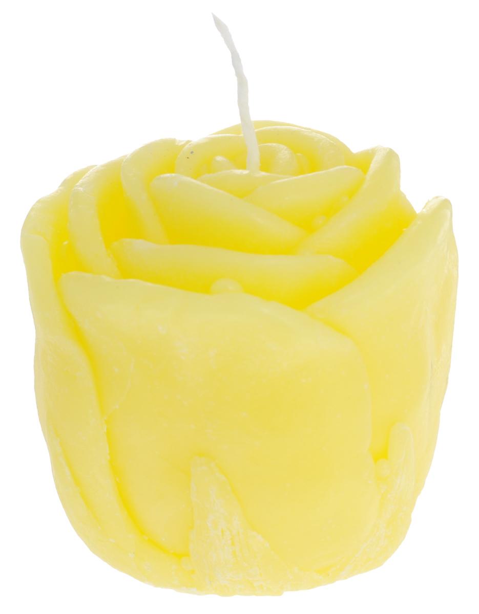 Свеча декоративная Proffi Home Малая роза, цвет: желтый, 5 х 5 х 6 смFS-91909Декоративная свеча Proffi Home Малая Роза изготовлена из парафина и стеарина, а фитиль из хлопка. Изделие выполнено в виде розы. Предназначена для освещения и украшения помещений. Такая свеча может стать отличным подарком или дополнить интерьер вашей спальни или гостиной.