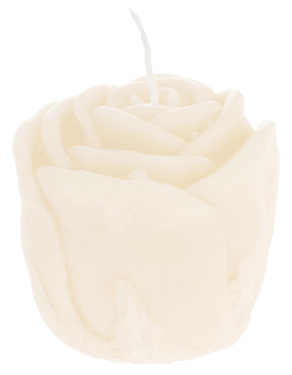 Свеча декоративная Proffi Home Малая роза, цвет: бежевый, 5 х 5 х 6 см свеча декоративная home queen пирожное 5 5 см х 5 см х 2 см 2 шт