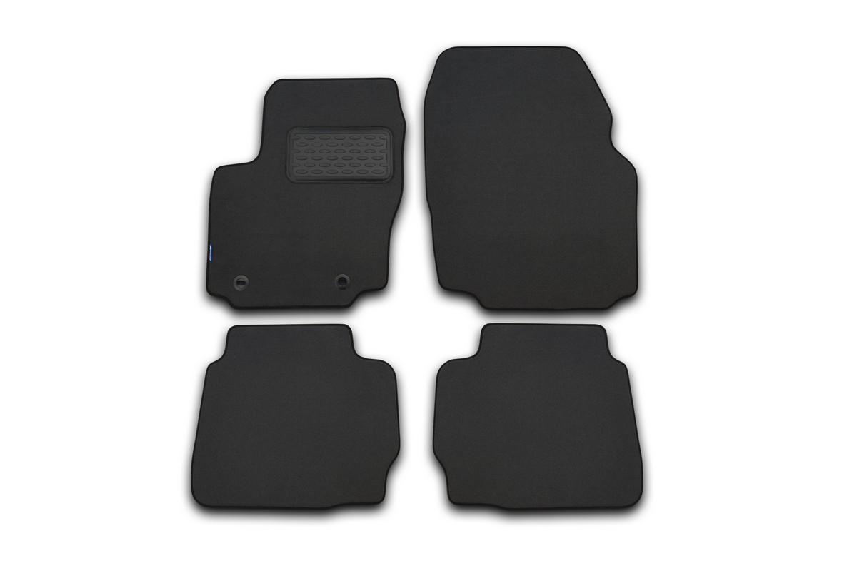 Набор автомобильных ковриков Novline-Autofamily для Fiat 500 АКПП 2008, хэтчбек, в салон, цвет: серый, 4 шт. NLT.15.12.22.111kh21395599Набор автомобильных ковриков Novline-Autofamily, изготовленный из текстиля, состоит из 4 ковриков, которые учитывают все особенности каждой модели автомобиля и полностью повторяют контуры пола. Текстильные автомобильные коврики для салона произведены из высококачественного материала, который держит форму, прочный и не пачкает обувь. Коврики в салон не только улучшат внешний вид салона вашего автомобиля, но и надежно уберегут его от пыли, грязи и сырости, а значит, защитят кузов от коррозии. Текстильные коврики для автомобиля мягкие и приятные, а их основа из вспененного полиуретана не пропускает влагу. Ковры для автомобилей надежно крепятся на полу и не скользят, что очень важно во время движения. Чистятся коврики очень просто: как при помощи автомобильного пылесоса, так и различными моющими средствами. Набор подходит для Fiat 500 АКПП хэтчбек с 2008 года выпуска.