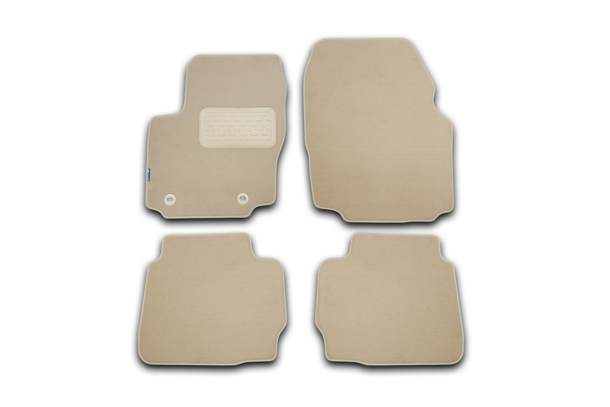 Набор автомобильных ковриков Novline-Autofamily для Ford Edge МКПП 2013-, кроссовер, в салон, цвет: бежевый, 4 шт. NLT.16.40.12.112khNLC.63.04.210Набор автомобильных ковриков Novline-Autofamily, изготовленный из текстиля, состоит из 4 ковриков, которые учитывают все особенности каждой модели автомобиля и полностью повторяют контуры пола. Текстильные автомобильные коврики для салона произведены из высококачественного материала, который держит форму, прочный и не пачкает обувь. Коврики в салон не только улучшат внешний вид салона вашего автомобиля, но и надежно уберегут его от пыли, грязи и сырости, а значит, защитят кузов от коррозии. Текстильные коврики для автомобиля мягкие и приятные, а их основа из вспененного полиуретана не пропускает влагу. Ковры для автомобилей надежно крепятся на полу и не скользят, что очень важно во время движения. Чистятся коврики очень просто: как при помощи автомобильного пылесоса, так и различными моющими средствами. Набор подходит для Ford Edge МКПП кроссовер с 2013 года выпуска.