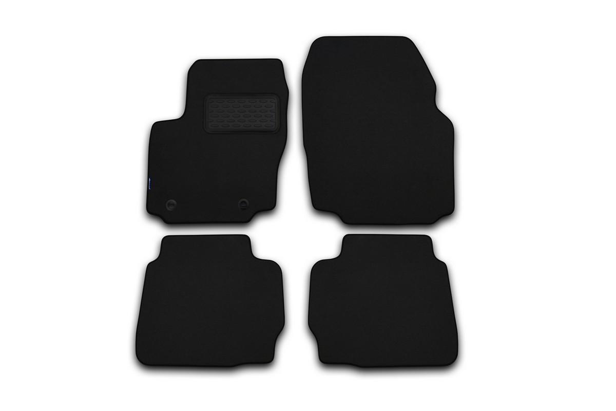 Набор автомобильных ковриков Novline-Autofamily для Ford Edge МКПП 2013-, кроссовер, в салон, цвет: черный, 4 шт. NLT.16.40.22.110khFS-80264Набор автомобильных ковриков Novline-Autofamily, изготовленный из текстиля, состоит из 4 ковриков, которые учитывают все особенности каждой модели автомобиля и полностью повторяют контуры пола. Текстильные автомобильные коврики для салона произведены из высококачественного материала, который держит форму, прочный и не пачкает обувь. Коврики в салон не только улучшат внешний вид салона вашего автомобиля, но и надежно уберегут его от пыли, грязи и сырости, а значит, защитят кузов от коррозии. Текстильные коврики для автомобиля мягкие и приятные, а их основа из вспененного полиуретана не пропускает влагу. Ковры для автомобилей надежно крепятся на полу и не скользят, что очень важно во время движения. Чистятся коврики очень просто: как при помощи автомобильного пылесоса, так и различными моющими средствами. Набор подходит для Ford Edge МКПП кроссовер с 2013 года выпуска.