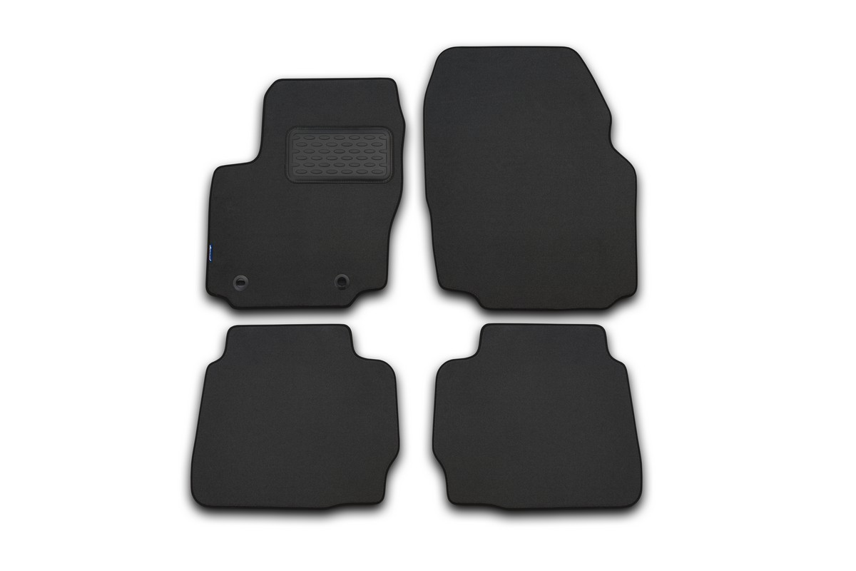 Набор автомобильных ковриков Novline-Autofamily для Hyundai Genesis 2008-, седан, в салон, цвет: серый, 4 шт. NLT.20.31.22.111kh240000Набор автомобильных ковриков Novline-Autofamily, изготовленный из текстиля, состоит из 4 ковриков, которые учитывают все особенности каждой модели автомобиля и полностью повторяют контуры пола. Текстильные автомобильные коврики для салона произведены из высококачественного материала, который держит форму, прочный и не пачкает обувь. Коврики в салон не только улучшат внешний вид салона вашего автомобиля, но и надежно уберегут его от пыли, грязи и сырости, а значит, защитят кузов от коррозии. Текстильные коврики для автомобиля мягкие и приятные, а их основа из вспененного полиуретана не пропускает влагу. Ковры для автомобилей надежно крепятся на полу и не скользят, что очень важно во время движения. Чистятся коврики очень просто: как при помощи автомобильного пылесоса, так и различными моющими средствами. Набор подходит для Hyundai Genesis седан с 2008 года выпуска.