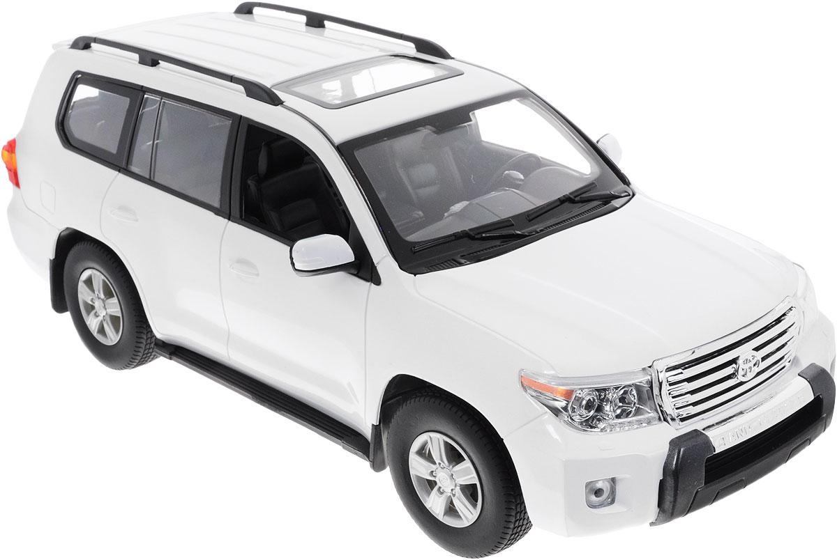 """Радиоуправляемая модель Rastar """"Toyota Land Cruiser"""" станет отличным подарком любому мальчику! Все дети хотят иметь в наборе своих игрушек ослепительные, невероятные и крутые автомобили на радиоуправлении. Тем более, если это автомобиль известной марки с проработкой всех деталей, удивляющий приятным качеством и видом. Одной из таких моделей является автомобиль на радиоуправлении Rastar """"Toyota Land Cruiser"""". Это точная копия настоящего авто в масштабе 1:16. Авто обладает неповторимым провокационным стилем и спортивным характером. Потрясающая маневренность, динамика и покладистость - отличительные качества этой модели. Возможные движения: вперед, назад, вправо, влево, остановка. Имеются световые эффекты. Пульт управления работает на частоте 27 MHz. Для работы игрушки необходимы 5 батареек типа АА (не входят в комплект). Для работы пульта управления необходима 1 батарейка напряжением 9V типа 6F22 (не входит в комплект)."""