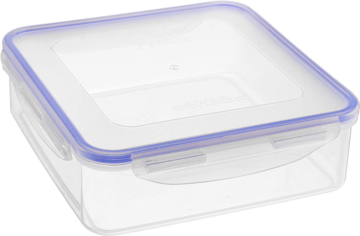 Контейнер пищевой Tek-a-Tek, 1,6 лSF4-2Пищевой контейнер Tek-a-Tek выполнен из высококачественного пластика. Изделие оснащено четырехсторонними петлями-замками и силиконовой прокладкой на внутренней стороне крышки. Это позволяет воде и воздуху не попадать внутрь, сохраняется герметичность.Изделие абсолютно нетоксично при любом температурном режиме.Можно использовать в посудомоечной машине, а так же в микроволновой печи (без крышки), замораживать до -20°С и размораживать различные продукты без потери вкусовых качеств.