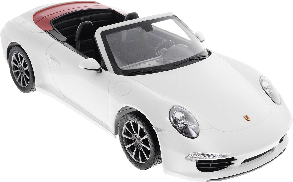Rastar Радиоуправляемая модель Porsche 911 Carrera S цвет белый rastar 1 24 porsche 918 spyder серебро 71400