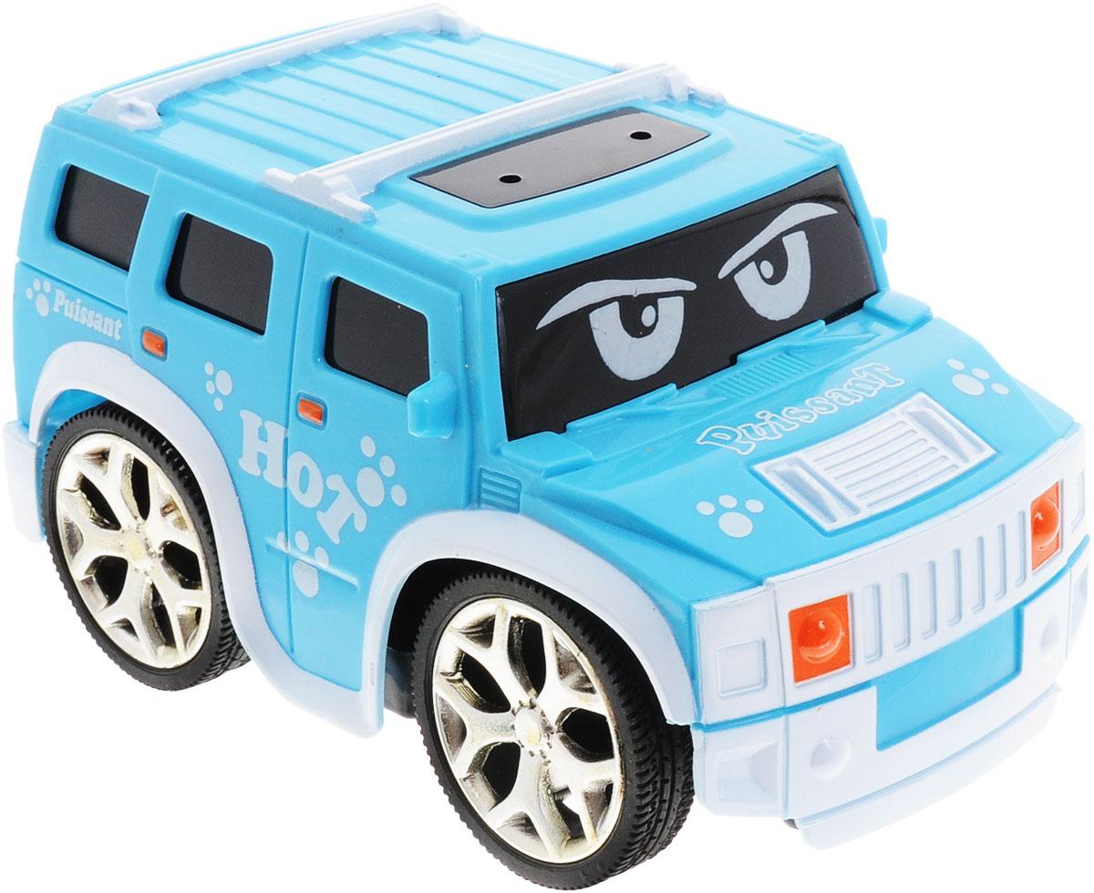 """Привлекательная радиоуправляемая модель 1TOY """"Puissant"""" из серии """"Мульт Драйв"""" подходит для самых маленьких любителей гонок. Яркая машинка практически оживает благодаря глазкам на лобовом стекле. Несмотря на свой мультяшный стиль, она ни разу не уступает настоящим радиоуправляемым моделям. Выполненная из безопасного прочного пластика, модель может двигаться влево, вправо, назад и вперед. Порадуйте своего малыша таким замечательным подарком! Для работы игрушки необходимы 3 батарейки напряжением 1,5 V типа ААА (не входят в комплект). Для работы пульта управления необходима 2 батарейки напряжением 1,5 V типа ААА (не входят в комплект)."""