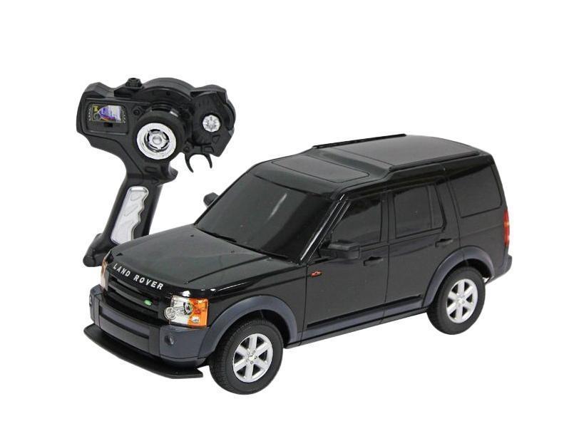 Радиоуправляемая модель автомобиля Land Rover Discovery 3 от компании Rastar выполнена в масштабе 1:14. Для успешной работы машинки необходимо 5 батареек AA и батарейка 9V для пульта дистанционного управления. Модель осуществляет движение вперед-назад, право-влево. При это у нее еще горят фары, что придает игре большую реалистичность. Радиоуправляемая машинка развивает скорость до 12 км/ч, управлять ей вы сможете на расстоянии не боле 45 метров. Цвет в ассортименте. Игрушка безусловно привлечет внимание вашего малыша, а процесс игры подарит ему новые, яркие эмоции