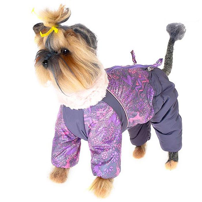 Комбинезон для собак Happy Puppy Скандинавия, зимний, для девочки, цвет: меланж. Размер 1 (S)BA453Зимний комбинезон для собак Happy Puppy Скандинавия отлично подойдет для прогулок в зимнее время года.Комбинезон изготовлен из полиэстера, защищающего от ветра и снега, а на подкладке используется искусственный мех, который обеспечивает отличный воздухообмен. Комбинезон застегивается на молнию, благодаря чему его легко надевать и снимать. Высокий ворот изделия выполнен из искусственного меха. Низ рукавов и брючин оснащен внутренними резинками, которые мягко обхватывают лапки, не позволяя просачиваться холодному воздуху. На пояснице комбинезон затягивается на шнурок-кулиску.Благодаря такому комбинезону простуда не грозит вашему питомцу и он сможет испытать не сравнимое удовольствие от снежных игр и забав.