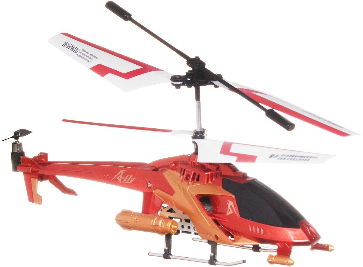 """Вертолет на радиоуправлении Auldey """"A-Fly"""" привлечет внимание не только ребенка, но и взрослого, и станет отличным подарком любителю воздушной техники. Вертолет оснащен трехканальным радиоуправлением, встроенным гироскопом и световыми эффектами. Модель обладает высокой стабильностью полета, что позволяет полностью контролировать его процесс, управляя без суеты и страха сломать игрушку. Каждый запуск модели будет максимально комфортным и принесет вам яркие впечатления. Вертолет выполнен из металла с пластиковыми элементами. Радиоуправляемые игрушки развивают у ребенка мелкую моторику, логику, координацию движений и пространственное мышление. Порадуйте своего ребенка таким замечательным подарком! Вертолет работает от встроенного аккумулятора, который заряжается посредством шнура USB (входит в комплект). Для работы пульта управления необходимо 6 батареек напряжением 1,5V типа AA (не входят в комплект)."""