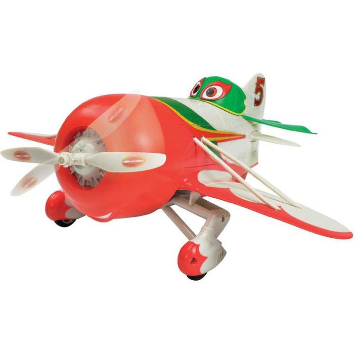 """Радиоуправляемая модель """"Самолет Чупакабра"""" привлечет внимание ребенка и не позволит ему скучать. Самолетик со звуковыми эффектами выполнен из прочного пластика в виде персонажа мультфильма """"Самолеты"""" - смелого и отважного мексиканца Эля Чупакабры. При помощи пульта управления самолетик движется по поверхности вперед, назад, поворачивает влево и вправо, останавливается. У модели поднимаются и опускаются крылья. Порадуйте своего ребенка таким замечательным подарком. Для работы самолета необходимы 3 батареи напряжением 1,5V типа АА (не входят в комплект), для работы пульта управления необходимы 3 батареи напряжением 1,5V типа ААА (не входят в комплект)."""