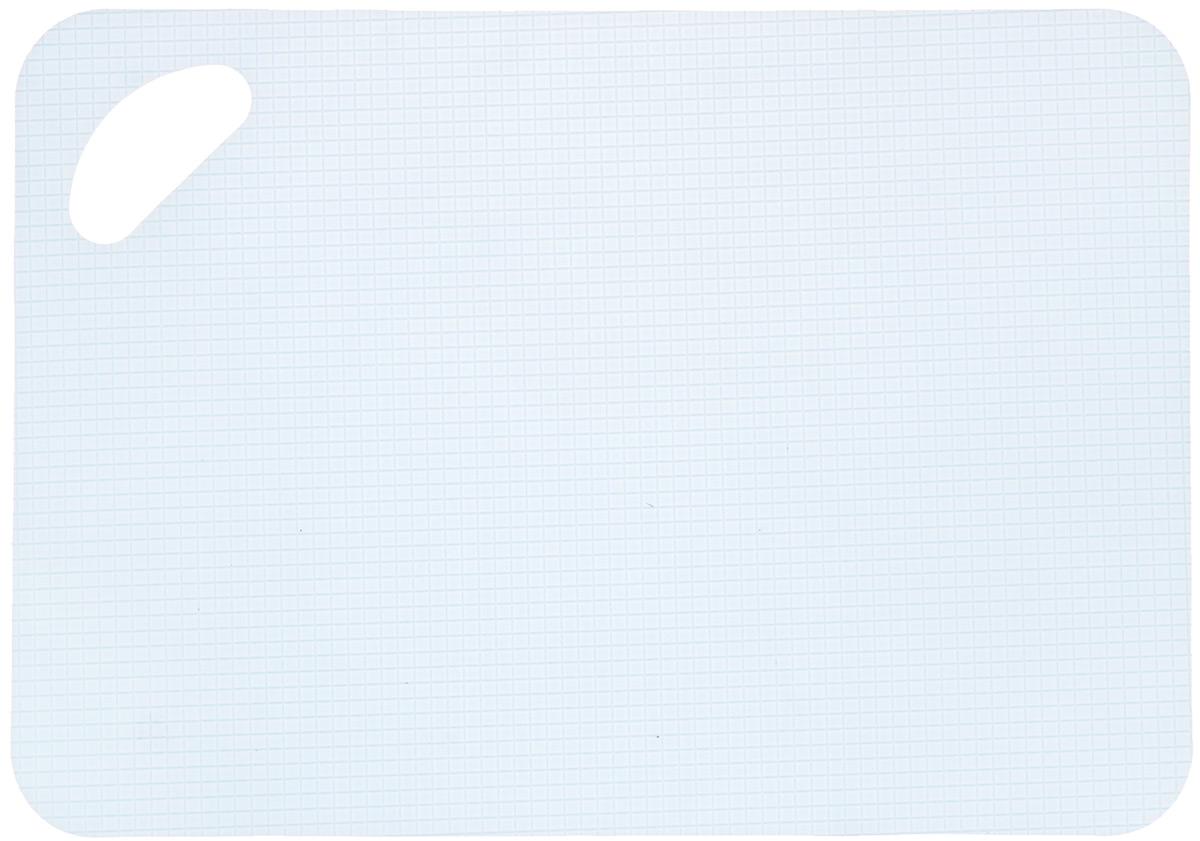 Доска разделочная LaraCook, гибкая, цвет: голубой, 21 х 30 смLC-1133Гибкая разделочная доска LaraCook прекрасно подходит для разделки всех видовпищевых продуктов. Изготовлена из гибкого одноцветного полипропилена (пластика) дляудобствапереноски и высыпания. Изделие оснащено отверстием для подвешивания на крючок инескользящей внутренней поверхностью.Можно мыть в посудомоечной машине.