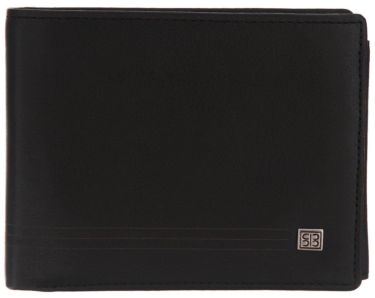 Портмоне мужское Sergio Belotti, цвет: черный. 1690 west black381270Стильное мужское портмоне Sergio Belotti выполнено из натуральной кожи и оформлено лейблом с логотипом бренда.Изделие раскладывается пополам и содержит два отделения для купюр, девять кармашков для кредитных карт, два сетчатых кармана для мелких документов, отделение для монет на кнопке, три потайных кармана, один из которых на молнии, а также кармашек для sim-карты.Портмоне - это удобный и стильный аксессуар, необходимый каждому активному человеку для хранения денежных купюр, монет, визитных и пластиковых карт, а также небольших документов. Надежное портмоне Sergio Belotti сочетает в себе классический дизайн и функциональность, и не только практично в использовании, но и станет отличным дополнением к любому стилю, и позволит вам подчеркнуть свою индивидуальность.Портмоне упаковано в подарочную коробку с логотипом производителя.