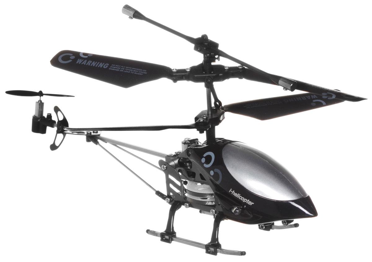 """Вертолет на радиоуправлении """"i-Helicopter """" c инфракрасным управлением подходит для полетов в закрытых помещениях, или на улице в безветренную погоду. Это вертолет с дистанционным управлением, осуществляемым с Apple iPhone, iPod или iPad, который подарит уникальную возможность почувствовать себя пилотом. Все, что для этого понадобится, - скачать приложение из AppStore и затем, следуя несложным инструкциям, подключить к своему iOS-гаджету инфракрасный передатчик. Управление вертолетом i-Helicopter - очень простой процесс. Оно происходит с использованием интуитивно понятного интерфейса, с которым справится даже ребенок. Игрушка изготовлена из пластика с металлическими элементами. Игрушка развивает многочисленные способности ребенка: мелкую моторику, пространственное мышление, реакцию и логику. Вертолет работает от встроенного аккумулятора, который можно заряжать от USB-шнура (входит в комплект)."""