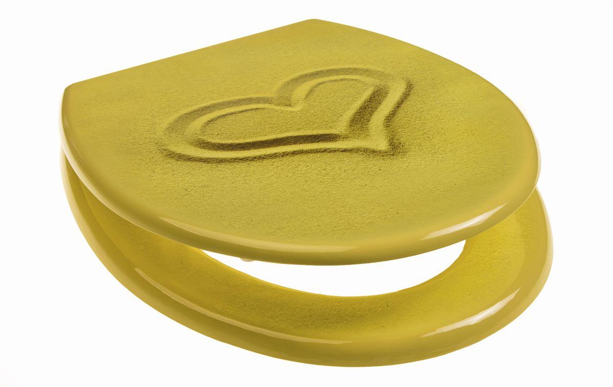 Сидение для унитаза Vanstore Песок Sand41619- с антибактериальным покрытием; -регулирууемое крепление от 11 до 21 см; -размер 42см x 37см x 7см