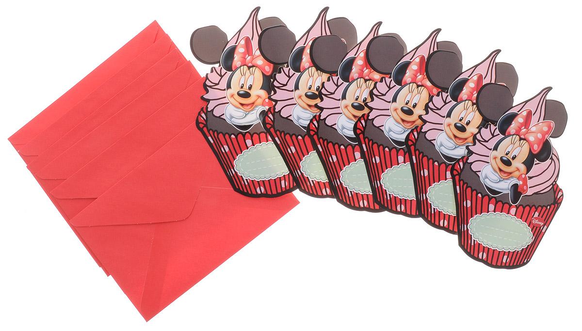 Procos Пригласительные открытки в конвертах Кафе Минни 6 шт