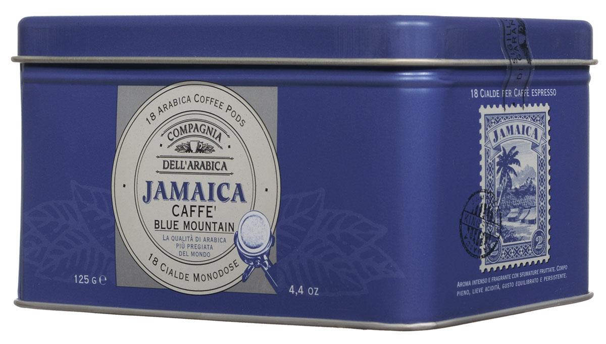 Compagnia DellArabica Jamaica Blue Mountain кофе в чалдах, 18 шт658435Compagnia DellArabica Jamaica Blue Mountain заслуженно считается наиболее элитным из всех существующих сортов кофе. Жемчужина кофейной коллекции Compagnia DellArabica! Содержит в себе нотки Карибского рома, аромат драгоценной ванили, полутона миндаля и какао, а также деликатный намек на бархатный аромат дорого табака.Кофе для приготовления в чалдовых кофемашинах!