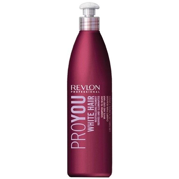 Revlon Professional Pro You Шампунь для блондированных волос White Hair Shampoo 350 млFS-00103Если Вы обладатель мелированных или седых волос, то средство Pro You White Hair – для Вас! В состав средства входит специальный пигмент, нейтрализующий желтые и серые оттенки волос, сохраняющий естественность и чистоту первоначального цвета. Волосы, наконец, возвращают себе эластичность и блеск, природную мягкость и богатую текстуру! Светлые пряди приобретают матовый отблеск, а седина действительно становится благородной! Не упустите свой шанс – воспользуйтесь шампунем Pro You White Hair уже сегодня!