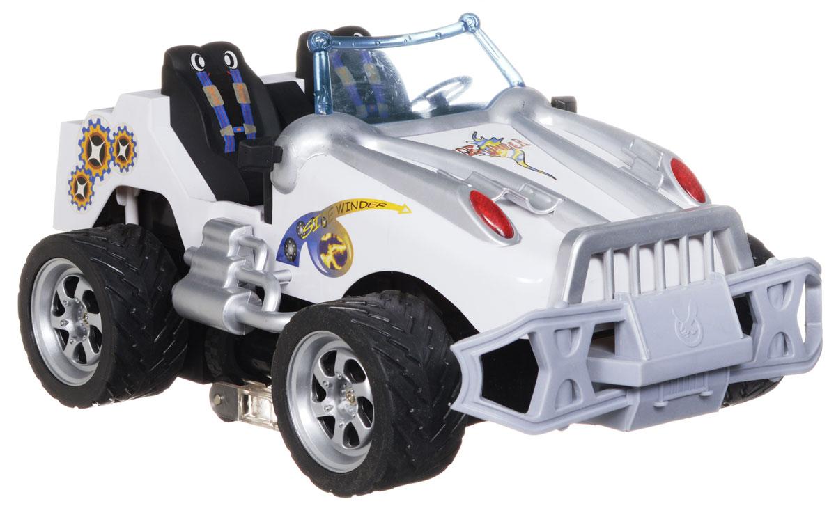 """Машина на радиоуправлении Regalia """"Боковой удар"""" доставит удовольствие вашему ребенку и приобщит его к миру техники и автомобилей. Машинка при помощи пульта управления движется вперед, назад, направо, налево, назад вправо, назад влево, останавливается и имеет боковое движение. Также, в отличие от радиоуправляемых машин предыдущего поколения, модель оснащена уникальным подвижным шасси, позволяющим свободно переворачиваться вперед и назад. Корпус машинки выполнен из прочного пластика, шины - из резины. Машина развивает хорошую скорость и обладает высокой стабильностью движения, что позволяет полностью контролировать процесс, управляя уверенно и без суеты. Повышенная проходимость модели позволяет преодолевать препятствия, играть не только дома, но и на улице. Такая модель станет отличным подарком любителю скорости и гонок! Пульт управления работает от батарейки 9V (входит в комплект). Машинка работает от аккумуляторной батарейки напряжением 9,6V..."""