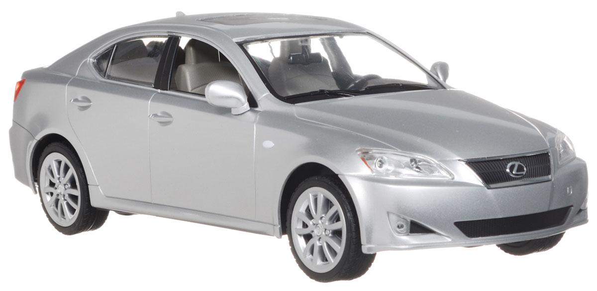 """Радиоуправляемая модель Rastar """"Lexus IS 350"""", выполненная из прочного пластика с металлическими элементами, является точной уменьшенной копией настоящего автомобиля в масштабе 1:14. Модель привлечет внимание не только ребенка, но и взрослого. Модель при помощи пульта управления движется вперед, дает задний ход, поворачивает влево и вправо, останавливается. Машина обладает высокой стабильностью движения, что позволяет полностью контролировать его процесс, управляя уверенно и без суеты. Модель оснащена световыми эффектами. Такая модель автомобиля станет отличным подарком не только автолюбителю, но и человеку, ценящему оригинальность и изысканность, а качество исполнения представит такой подарок в самом лучшем свете. Машина работает от 5 батареек типа АА напряжением 1,5V, пульт работает от батарейки 9V типа """"Крона"""" (не входят в комплект)."""