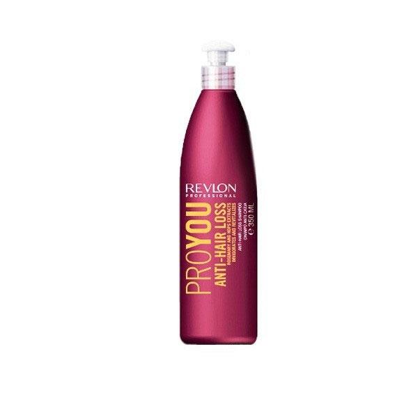 Revlon Professional Pro You Шампунь против выпадения волос Anti-Hair Loss Shampoo 350 млFS-00897Шампунь против выпадения волос от Revlon предназначен для ослабленных и поврежденных волос. Он укрепляет и оздоравливает волосяные корни, делает их прочными и сильными. В состав шампуня входят экстрагированные компоненты розмарина и хмеля, оказывающие комплексное воздействие на рост и силу волос. Выберите шампунь от Revlon и Вы позабудете о проблемах с волосами!