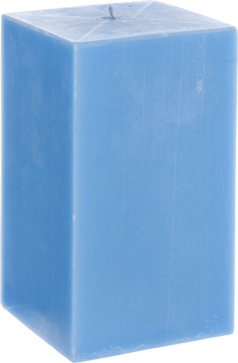 Свеча декоративная Proffi Квадрат, цвет: голубой, 9,5 х 9,5 х 17,5 см41619Свеча Proffi Квадрат выполнена из парафина и стеарина в классическом стиле. Изделие порадует вас ярким дизайном. Такую свечу можно поставить в любое место, и она станет ярким украшением интерьера. Свеча Proffi Квадрат создаст незабываемую атмосферу, будь то торжество, романтический вечер или будничный день.