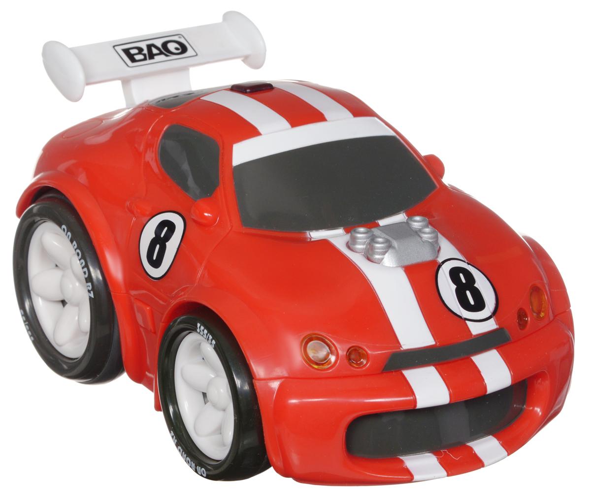 """Машинка на инфракрасном управлении Smoby """"Bao"""" обязательно понравится каждому мальчишке. Яркая спортивная машинка Smoby BAO выполнена из прочного безопасного пластика. Ребенок не будет выпускать из рук интересный по дизайну пульт управления, который имитирует компьютерную мышку. А уж когда машинка тронется с места, восторгу малыша не будет предела! Машинка двигается вперед, назад, а также может поворачиваться по кругу. При движении у машинки светятся фары, а при нажатии на кнопку на дверце автомобиля или на пульте раздается звук работающего двигателя. Порадуйте своего малыша таким замечательным подарком! Для работы игрушки необходимы 4 батарейки типа АА (входят в комплект). Для работы пульта управления необходимы 2 батарейки типа ААА (не входят в комплект)."""