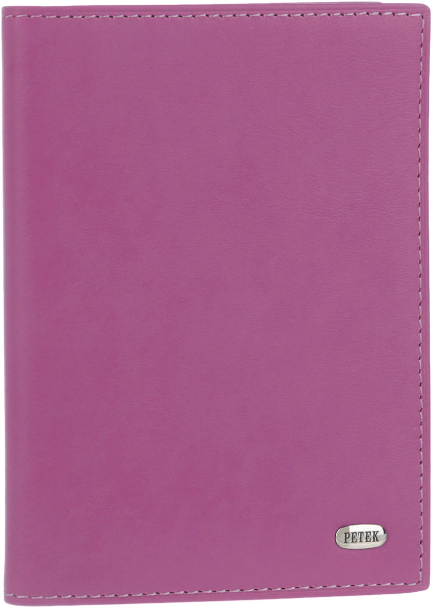Обложка для автодокументов женская Petek 1855, цвет: пурпурный. 584.167.16574.041.01 BlackСтильная женская обложка для автодокументов Petek 1855 выполнена из натуральной кожи. Изделие оформлено металлической пластиной с гравировкой бренда. Внутри имеется два боковых кармана, блок из шести прозрачных файлов из мягкого пластика, один из которых формата А5 и четыре прорезных кармана для визиток и пластиковых карт.Такая обложка не только поможет сохранить внешний вид ваших документов и защитит их от повреждений, но и станет стильным аксессуаром, идеально подходящим вашему образу.