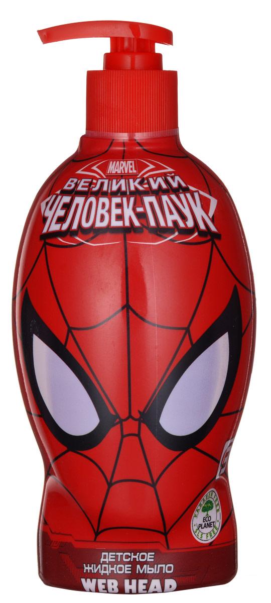 Spider-Man Мыло жидкое Web-Head, детское, 480 млП4Жидкое мыло бережно очищает кожу, увлажняет, успокаивает и смягчает. Мыло станет отличным помощником в борьбе с бактериями, благодаря экстракту арбуза, который богат полезными микроэлементами. Линия средств для настоящего супер-героя!Товар сертифицирован.