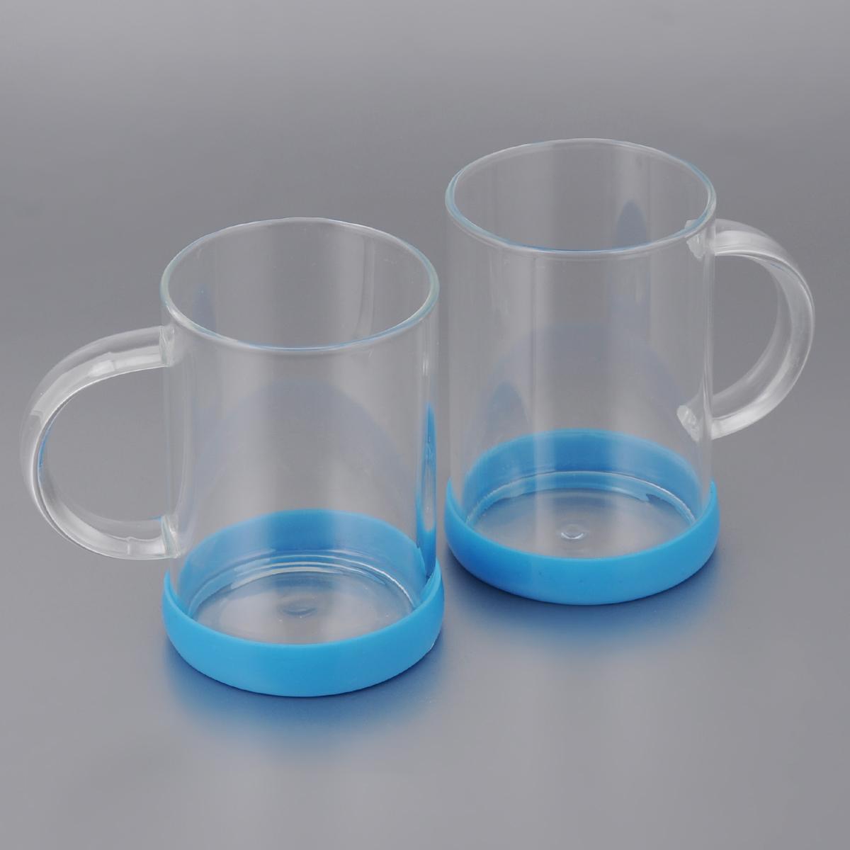 Набор стаканов Apollo Bauble, цвет: синий, 260 мл, 2 штBBL-02Набор Apollo Bauble, состоящий из двух стаканов, несомненно, придется вам по душе. Стаканы изготовлены из жаропрочного стекла и оснащены противоскользящими силиконовыми основаниями. Современный дизайн изделий полностью соответствует последним модным тенденциям в создании предметов бытовой техники.Набор стаканов Apollo Bauble станет также отличным подарком на любой праздник.Стаканы не рекомендуется мыть в посудомоечной машине. Диаметр стакана по верхнему краю: 6,5 см. Высота стакана: 10 см.