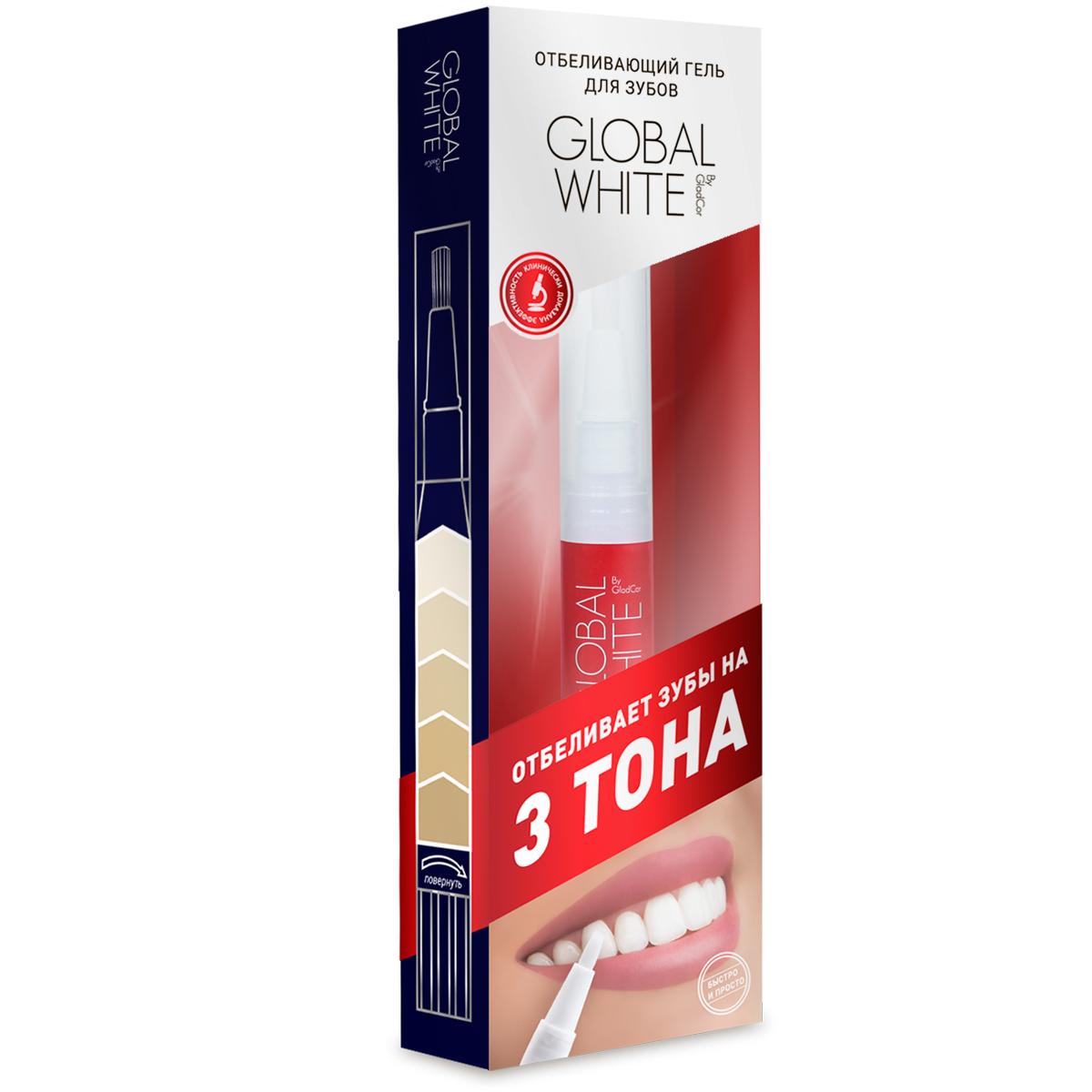 Global White Отбеливающий гель 6% (карандаш), 5 мл109Отбеливает на 3 тона, клинически доказанный результат, эффект после первого применения.