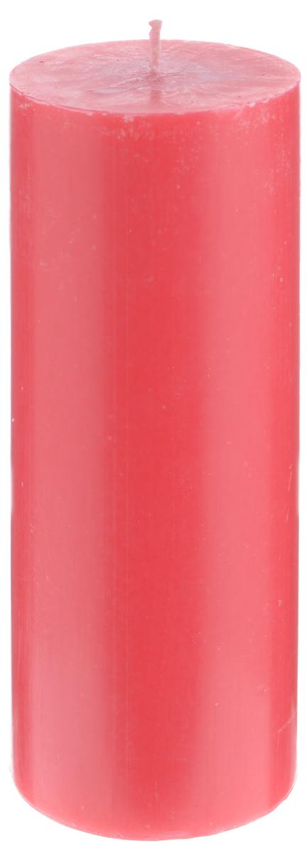 Свеча декоративная Proffi Home Столбик, цвет: красный, высота 19,5 см12723Декоративная свеча Proffi Home Столбик выполнена из парафина и стеарина в классическом стиле. Изделие порадует вас ярким дизайном. Такую свечу можно поставить в любое место, и она станет ярким украшением интерьера. Свеча Proffi Home Столбик создаст незабываемую атмосферу, будь то торжество, романтический вечер или будничный день.