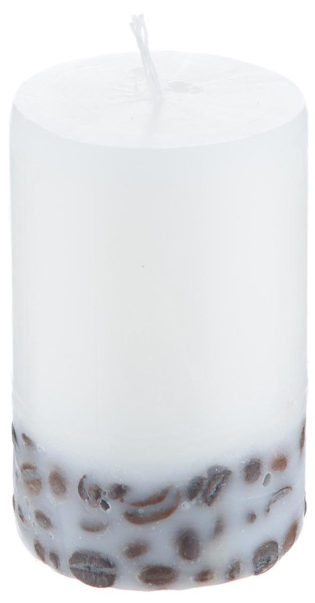 Свеча декоративная Proffi Home Столбик, с кофе, цвет: белый, высота 8 см25051 7_зеленыйДекоративная свеча Proffi Home Столбиквыполнена из парафина и стеарина вклассическом стиле. Нижняя часть свечидекорирована кофейными зернами. Изделие порадуетвас ярким дизайном. Такую свечу можнопоставить в любое место, и она станет яркимукрашением интерьера. Свеча Proffi Home Столбик создастнезабываемую атмосферу, будь то торжество,романтический вечер или будничный день.