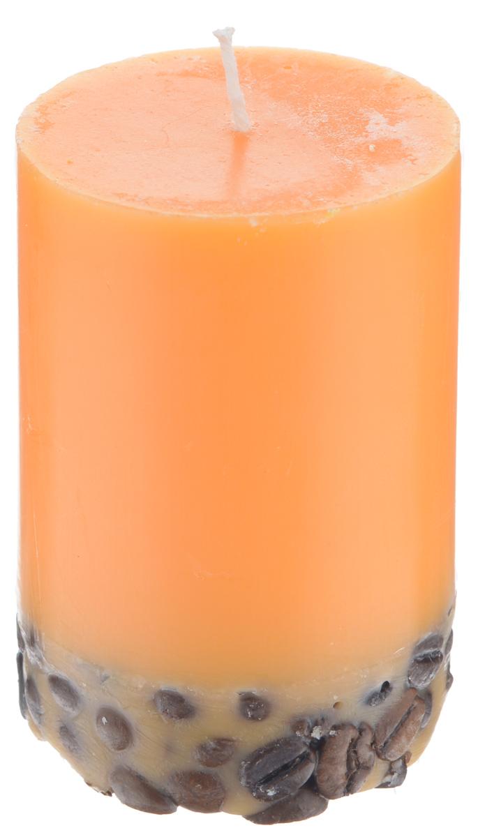 Свеча декоративная Proffi Home Столбик, с кофе, цвет: оранжевый, высота 8 смPH5886Декоративная свеча Proffi Home Столбиквыполнена из парафина и стеарина вклассическом стиле. Нижняя часть свечидекорирована кофейными зернами. Изделие порадуетвас ярким дизайном. Такую свечу можнопоставить в любое место и она станет яркимукрашением интерьера. Свеча Proffi Home Столбик создастнезабываемую атмосферу, будь то торжество,романтический вечер или будничный день.
