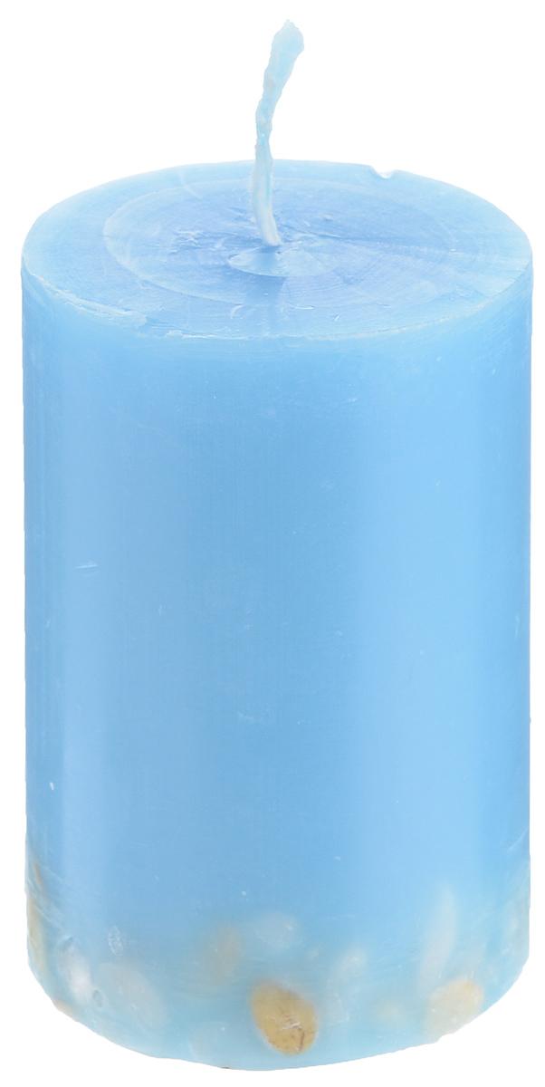 Свеча декоративная Proffi Home Столбик, с галькой, цвет: голубой, высота 8 смRG-D31SДекоративная свеча Proffi Home Столбик выполнена из парафина и стеарина в классическом стиле. Нижняя часть свечи декорирована галькой. Изделие порадует вас ярким дизайном. Такую свечу можно поставить в любое место, и она станет ярким украшением интерьера. Свеча Proffi Home Столбик создаст незабываемую атмосферу, будь то торжество, романтический вечер или будничный день.