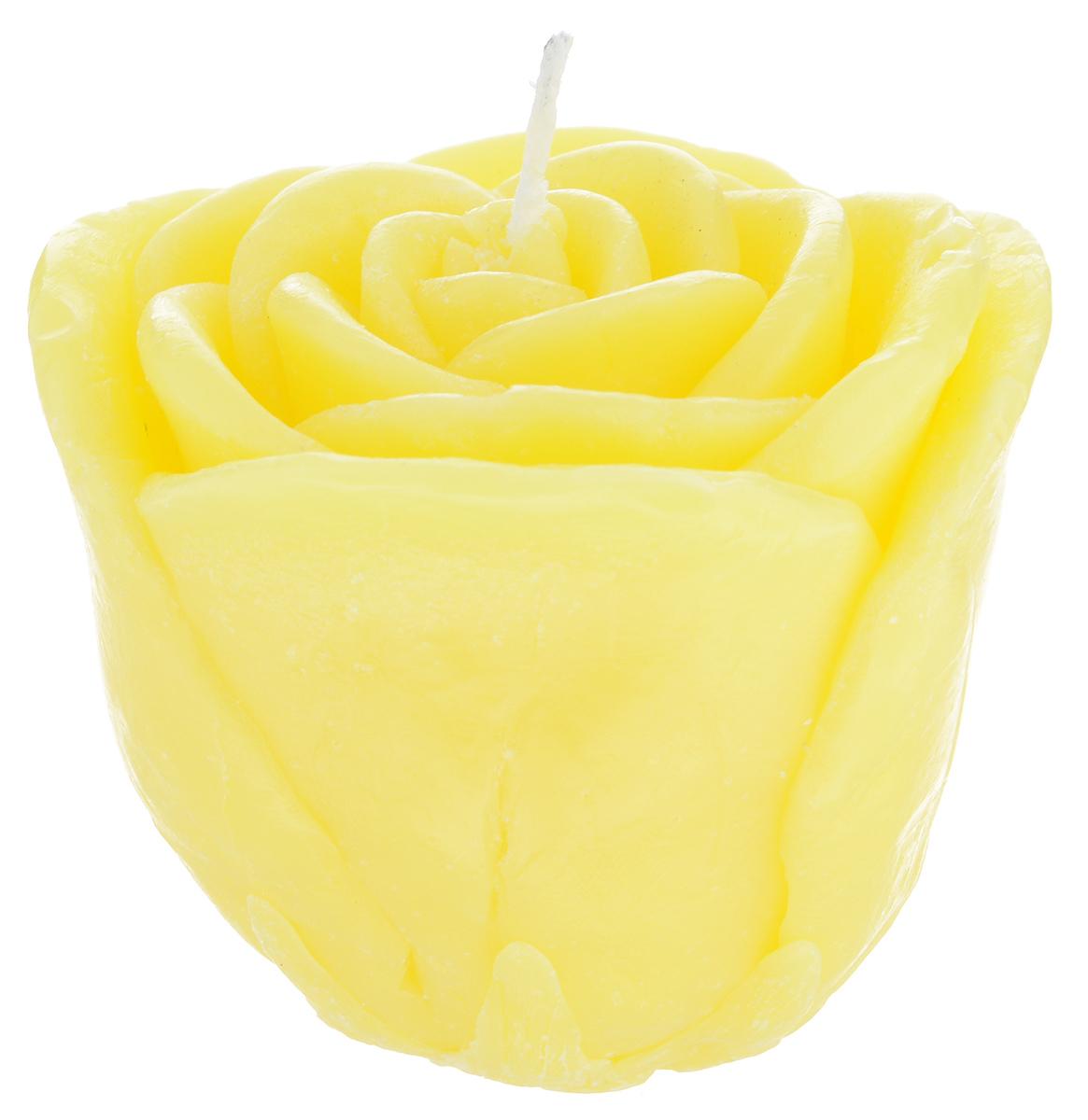 Свеча декоративная Proffi Большая роза, цвет: желтый, 7 х 7 х 6 смRG-D31SДекоративная свеча Proffi Большая роза изготовлена из парафина и стеарина, а фитиль из хлопка. Изделие выполнено в виде розы. Предназначена для освещения и украшения помещений. Такая свеча может стать отличным подарком или дополнить интерьер вашей спальни или гостиной.