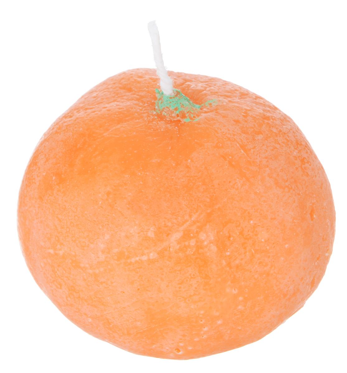 Свеча декоративная Proffi Home Мандарин, цвет: оранжевый, 5 х 4,5 см свеча декоративная home queen пирожное 5 5 см х 5 см х 2 см 2 шт