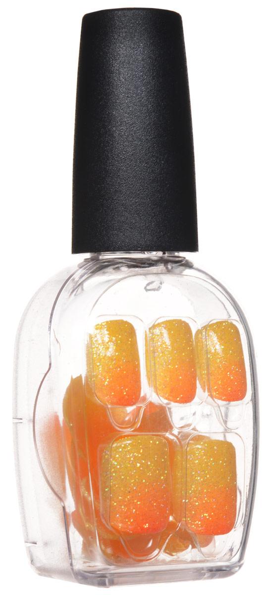 Kiss Broadway Твердый лак Импрессс Маникюр Вечеринка, длина короткая Impress Manicure, цвет: оранжевый