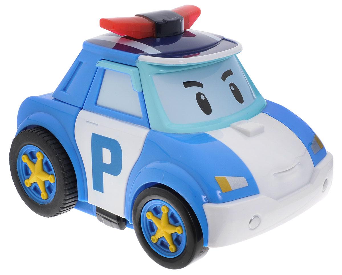 """Робот-трансформер на радиоуправлении Poli непременно понравится вашему ребенку. Он выполнен в виде полицейской машинки-робота Поли - персонажа мультфильма """"Robocar Poli"""". Поли - настоящий полицейский, самый сильный, смелый, отважный, честный и справедливый. У него есть, чему поучиться. С Поли можно играть как с полицейским автомобилем, догоняя нарушителей на улицах городка, а можно перевоплотить его в робота с помощью пульта управления и помогать жителям. Колеса машинки прорезинены. При перевоплощении из машины в робота Поли воспроизводит три мелодии, при этом его сирена мигает. В форме робота игрушка передвигается в разные стороны и двигает руками. Машинка автоматически переходит в энергосберегающий режим после 10 минут с момента последней игры. В комплект входят инструкция по эксплуатации на русском языке и очень удобный для детской руки пульт управления. На нем расположены три большие кнопки. Антенна мягкая, безопасная, пораниться об нее невозможно. Робот..."""