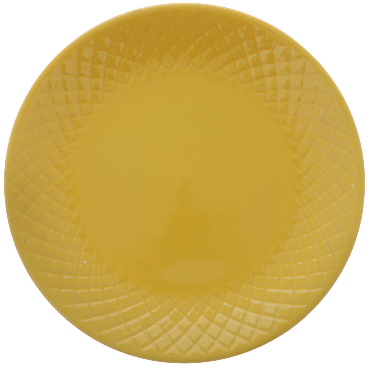 Тарелка обеденная Walmer Amber, цвет: желтый, диаметр 20 см115510Обеденная тарелка Walmer Amber, изготовленная из высококачественной керамики, имеет изысканный внешний вид. Яркий дизайн придется по вкусу и ценителям классики, и тем, кто предпочитает утонченность. Тарелка Walmer Amber идеально подойдет для сервировки стола и станет отличным подарком к любому празднику.Диаметр (по верхнему краю): 20 см