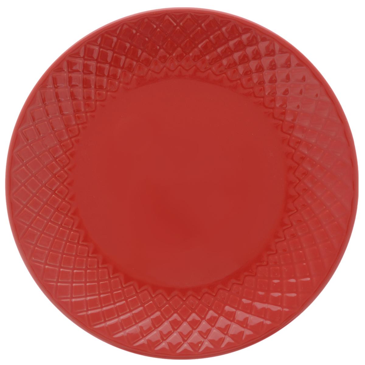 Тарелка обеденная Walmer Amber, цвет: красный, диаметр 20 см54 009303Обеденная тарелка Walmer Amber, изготовленная из высококачественной керамики, имеет изысканный внешний вид. Яркий дизайн придется по вкусу и ценителям классики, и тем, кто предпочитает утонченность. Тарелка Walmer Amber идеально подойдет для сервировки стола и станет отличным подарком к любому празднику.Диаметр (по верхнему краю): 20 см