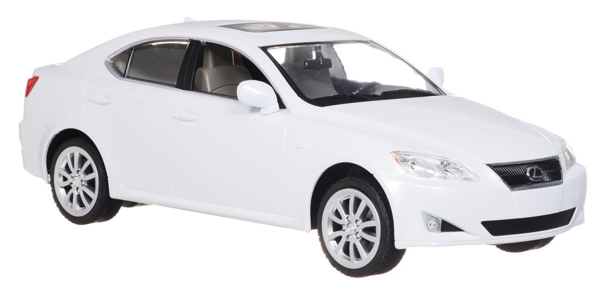 """Радиоуправляемая модель Rastar """"Lexus IS 350"""" привлечет внимание не только ребенка, но и взрослого и станет отличным подарком любителю всего оригинального и необычного. Машинка является уменьшенной копией автомобиля Lexus IS 350 в масштабе 1:14. Машинка изготовлена из прочного пластика, шины выполнены из мягкой резины. Фары машины светятся. Машинка при помощи пульта управления может перемещаться вперед, давать задний ход, поворачивать влево и вправо, останавливаться. Ваш ребенок часами будет играть с моделью, придумывая различные истории и устраивая соревнования. Порадуйте его таким замечательным подарком! Пульт управления работает от батарейки напряжением 9V типа 6F22, машина работает от 5 батарей напряжением 1,5V типа АА (не входят в комплект)."""