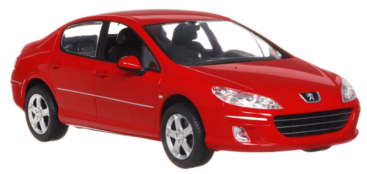 """Радиоуправляемая модель Rastar """"Peugeot 407"""" стильного красного цвета, является точной уменьшенной копией настоящего автомобиля в масштабе 1:14. Модель привлечет внимание не только ребенка, но и взрослого. Модель при помощи пульта управления движется вперед, дает задний ход, поворачивает влево и вправо, останавливается. Машина обладает высокой стабильностью движения, что позволяет полностью контролировать его процесс, управляя уверенно и без суеты. Модель оснащена световыми эффектами. Такая модель автомобиля станет отличным подарком не только автолюбителю, но и человеку, ценящему оригинальность и изысканность, а качество исполнения представит такой подарок в самом лучшем свете. Машина работает от 5 батареек типа АА напряжением 1,5V, пульт работает от батарейки 9V типа """"Крона"""" (не входят в комплект)."""