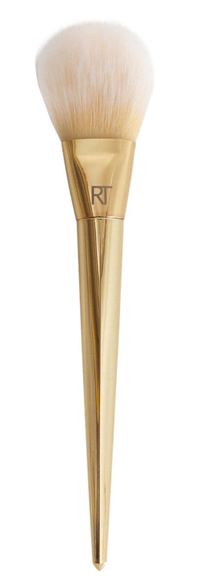 Real Techniques Кисть для пудры ARCHED POWDER 100Satin Hair 7 BR730MNКисть 100 Arched Powder от RealTechniques предназначена для нанесения на кожу сухих текстур, таких как румяна, бронзер, иллюминайзер или средства для контурирования. Также кисть прекрасно подходит для нанесения рассыпчатой или прессованной пудры. Пушистый светлый ворс и удобная позолоченная ручка придают 100 Arched Powder шикарный вид и позволяют вам окунуться в атмосферу роскоши. Ворс кистивосхитительно мягкий и приятный на ощупь. Он легко скользит по коже, идеально растушевывая и смешивая текстуры. Это позволяет создавать удивительно плавные переходы между оттенками, добиваясь невероятно естественного румянца и безупречного тона лица! Искусственный ворс - таклон ручной набивки и стрижки