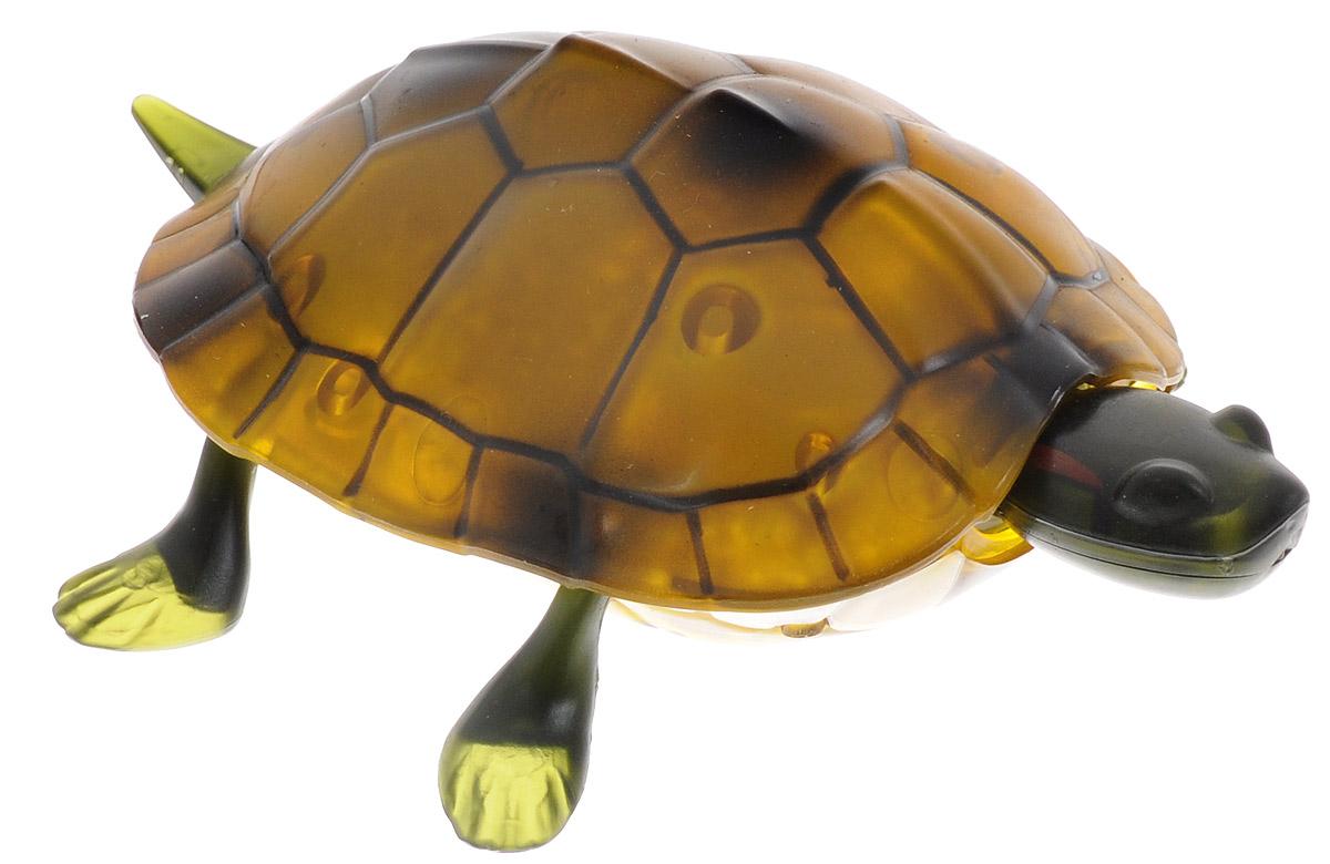 """Игрушка на инфракрасном радиоуправлении Tongde """"Робот-черепаха"""" непременно привлечет внимание вашего ребенка и не позволит ему скучать. Изготовленная из высококачественного пластика игрушка очень похожа на настоящую черепашку. Она приводится в движение с помощью пульта дистанционного управления. Игрушка реалистично двигается вперед, назад, поворачивается, а также снабжена световыми эффектами. Порадуйте вашего малыша таким замечательным подарком! Для работы игрушки необходим аккумулятор (входит в комплект). Для работы пульта управления необходима 3 батарейки типа АА (не входят в комплект)."""