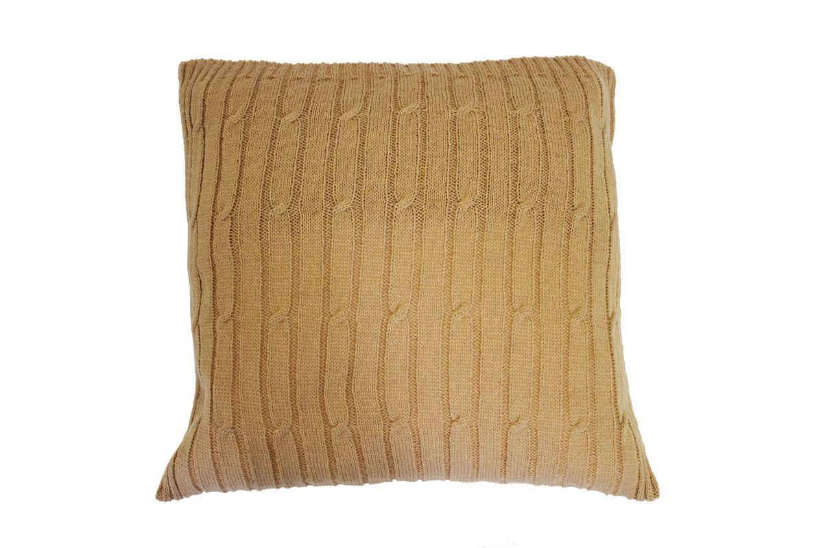 Подушка Proffi Home Косы, цвет: бежевый, 40 х 40 см1004900000360Подушка Proffi Home Косы, не оставит равнодушным тех, кто ценит качество и комфорт. Изделие выполнено из качественного материала и оформлено оригинальной вязкой.
