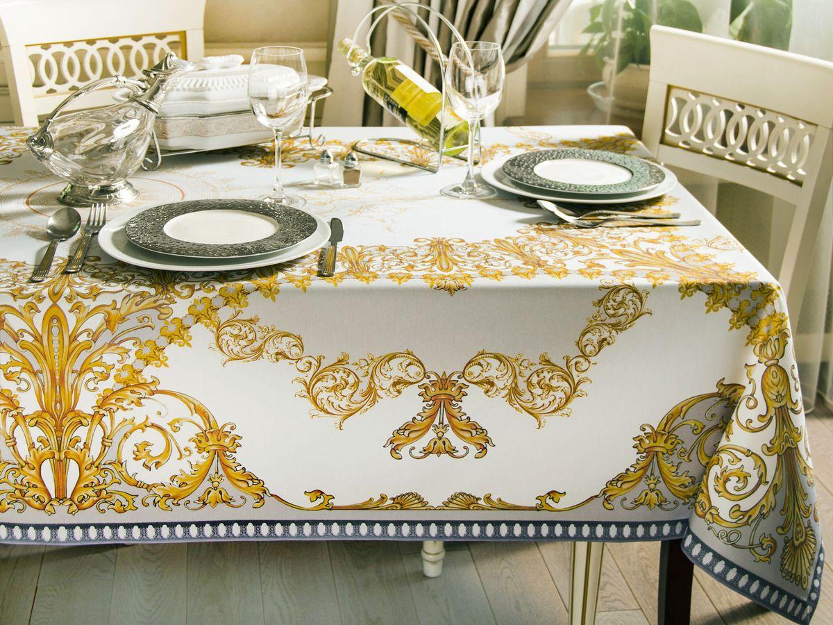 Скатерть кухонная Proffi Home Флоренсия, 140 х 140 см, цвет: белый, бежевыйВетерок 2ГФСкатертьФорма: квадратнаяМатериал: полиэстер, хлопокДлина: 140 смШирина: 140 смЦвет: белый, бежевый