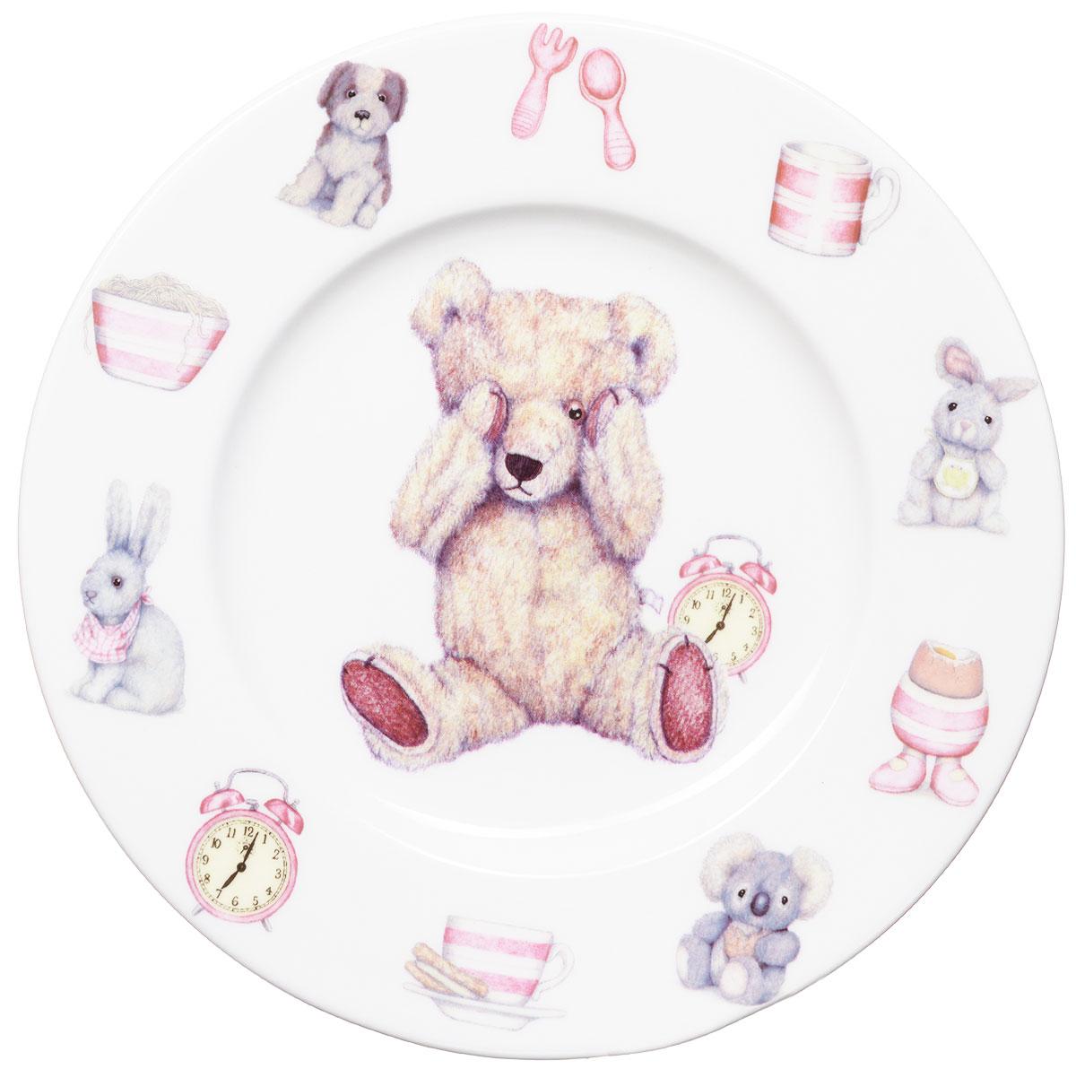 Roy Kirkham Тарелка Тедди тайм 19,5 см цвет розовыйG7804Яркая фарфоровая тарелка Тедди тайм превратит процесс кормления вашего малыша в веселую игру. Очаровательный образ медвежонка Тедди - воплощение английской классики. В коллекции детской посуды и подарочных аксессуаров Тедди тайм английской компании Roy Kirkham, всемирно признанного бренда с более чем 40-летней историей, все предметы изготовлены из тонкостенного костяного фарфора - керамического материала высшего качества, отличающегося необыкновенной прочностью и небольшим весом. Ваш ребенок будет кушать с большим удовольствием, стараясь быстрее добраться до картинки с мишкой Тедди. Отвечает всем требованиям безопасности при контакте с пищей.