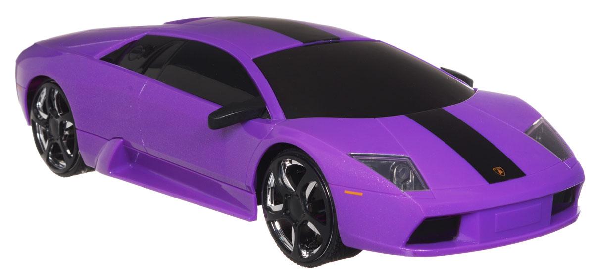 """Радиоуправляемая модель Jada """"Lamborghini Murcielago"""", выполненная из прочного пластика с металлическими элементами, является точной уменьшенной копией настоящего автомобиля в масштабе 1:16. Модель создана специально для девочек. Машина при помощи пульта управления движется вперед, дает задний ход, поворачивает влево и вправо, останавливается. Машина обладает высокой стабильностью движения, что позволяет полностью контролировать его процесс, управляя уверенно и без суеты. Такая модель автомобиля станет отличным подарком человеку, ценящему оригинальность и изысканность, а качество исполнения представит такой подарок в самом лучшем свете. Машина работает от 4 батареек типа АА напряжением 1,5V, пульт работает от батарейки 9V типа """"Крона"""" (не входят в комплект)."""
