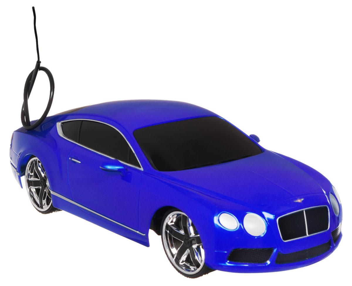 """Радиоуправляемая модель Jada """"Bentley Continental GT V8"""" является точной уменьшенной копией настоящего автомобиля в масштабе 1:16. Все дети хотят иметь в наборе своих игрушек ослепительные, невероятные и модные автомобили на радиоуправлении. Тем более, если это автомобиль известной марки с проработкой всех деталей, удивляющий приятным качеством и видом. Машина при помощи пульта управления движется вперед, дает задний ход, поворачивает влево и вправо, останавливается. Машина обладает высокой стабильностью движения, что позволяет полностью контролировать его процесс, управляя уверенно. Такая модель автомобиля станет отличным подарком человеку, ценящему оригинальность и изысканность, а качество исполнения представит такой подарок в самом лучшем свете. Машина работает от встроенного аккумулятора, который заряжается при помощи USB-кабеля (входит в комплект). Пульт работает от 2 батареек типа АА (входят в комплект)."""